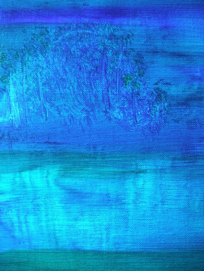 「新日本画 (現美・富士山 @ Second Life)」F40、油、2010年