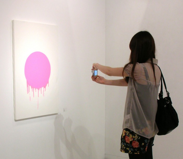 「Japan = Pink」M40、油、2007年