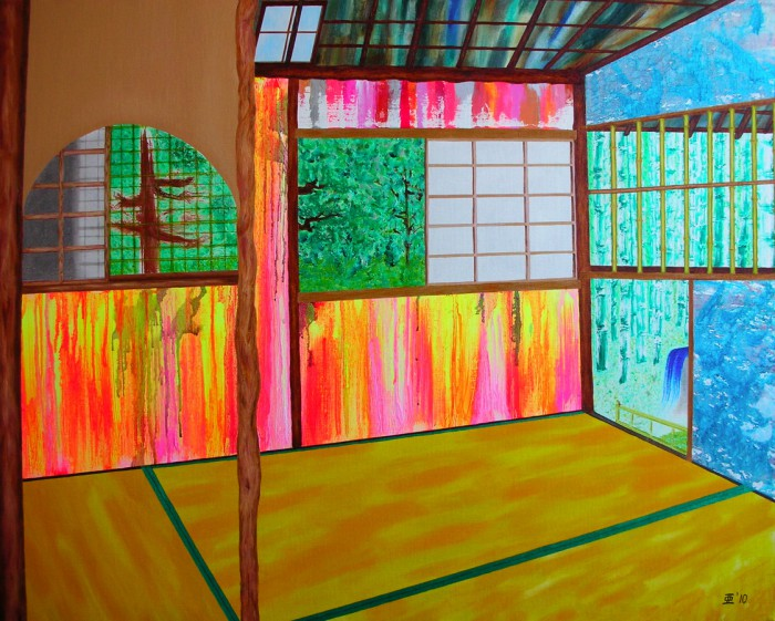 「新日本画 (お茶室)」F40、油、2010年