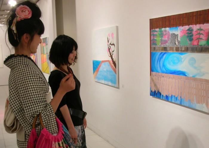 「新日本画 (竜安寺)」F40、油、2010年