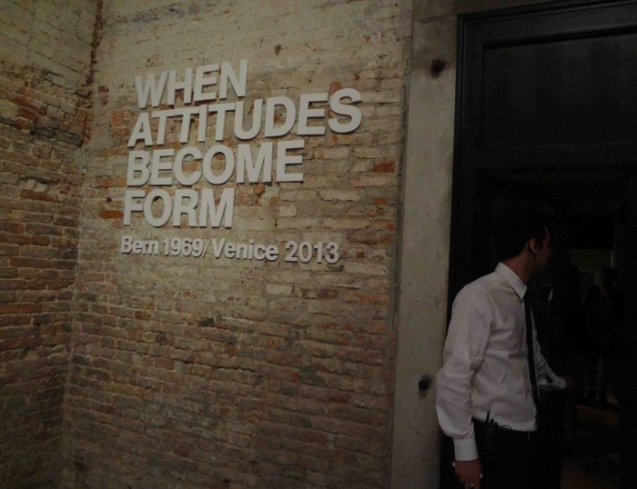 Harald Szeemann「When attitudes become form」Bern 1969 / Venezia 2013